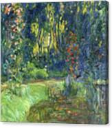 The Water-lily Pond At Giverny  Canvas Print