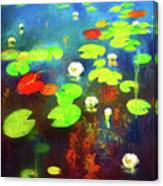 The Water Lily Pond Canvas Print