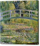 The Waterlily Pond with the Japanese Bridge Canvas Print