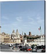 The Way To Piazza Venezia Canvas Print