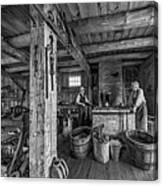 The Way We Were - The Blacksmith 2 Bw Canvas Print