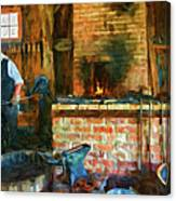 The Way We Were - The Blacksmith - Paint Canvas Print