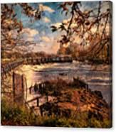 The Weir At Teddington Canvas Print
