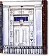 The White Balcony Canvas Print