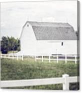 The White Barn Canvas Print