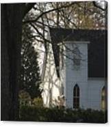 The White Church Canvas Print