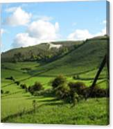 The White Horse Westbury England Canvas Print
