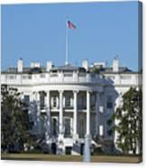 The White House - 1600 Pennsylvania Avenue Washington Dc Canvas Print