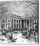 The White House, 1877 Canvas Print