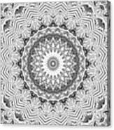 The White Kaleidoscope No. 2 Canvas Print