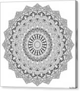 The White Mandala No. 3 Canvas Print