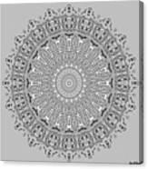 The White Mandala No. 4 Canvas Print