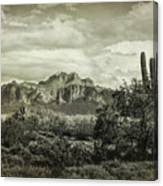 The Wild West Of The Superstitions  Canvas Print