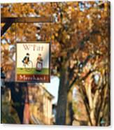 The William Pitt Shop Sign Canvas Print