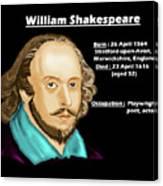 The William Shakespeare Canvas Print