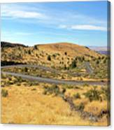 The Winding Road In Central Oregon Canvas Print