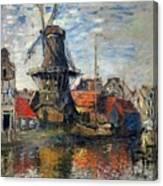 The Windmill Amsterdam Claude Monet 1874 Canvas Print