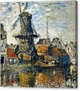 The Windmill On The Onbekende Gracht, Amsterdam 1874 Canvas Print