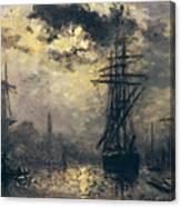 The Windmills In Rotterdam Canvas Print