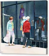 The Window Shoppers Canvas Print