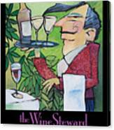 The Wine Steward - Poster Canvas Print