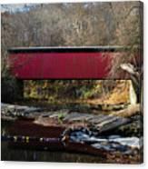 The Wissahickon Creek In Autumn - Thomas Mill Covered Bridge Canvas Print