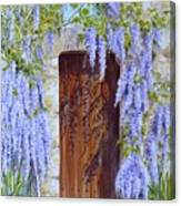 The Wisteria Gate Canvas Print