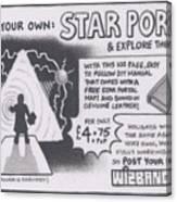 Wizbang Star Portal Canvas Print