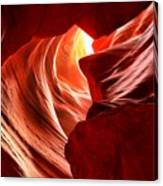 The Woman In The Canyon Canvas Print
