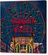 The Wonder Wheel At Luna Park Canvas Print