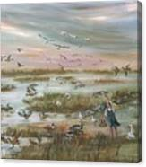 The Wondrous Feathered Things Of The Great Marsh Canvas Print