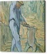 The Woodcutter After Millet Saint Remy De Provence September 1889 Vincent Van Gogh 1853  1890 Canvas Print
