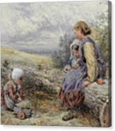 The Woodcutter's Children Canvas Print