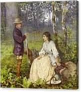 The Woodland Encounter  Canvas Print