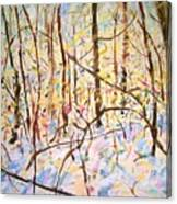 The Woods With Snow Canvas Print