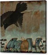 The Word Crow Canvas Print