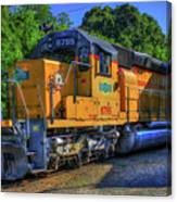 The Workhorse Squaw Creek Southern Rail Road Locomotive Art Canvas Print