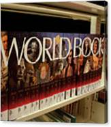 The World In The Library - Encyclopedias Canvas Print