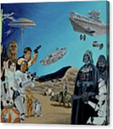 The World Of Star Wars Canvas Print