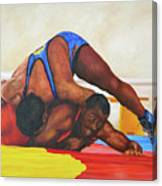 The Wrestlers Canvas Print