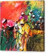 The Yellow River Of The Tour De France Canvas Print