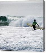 The Yellow Surfboard Canvas Print