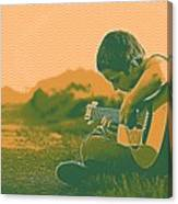 The Young Musician 2 Canvas Print
