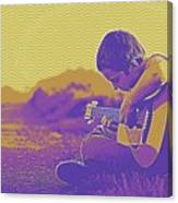 The Young Musician 3 Canvas Print