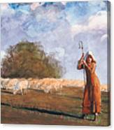 The Young Shepherdess Canvas Print