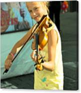 The Young Violinist  Canvas Print