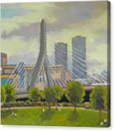 The Zakim Bridge Canvas Print
