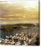 Thea Foss Waterway In Tacoma Washington Canvas Print
