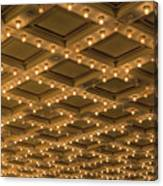 Theater Ceiling Marquee Lights Canvas Print