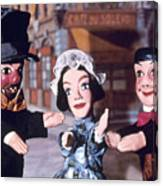 Theater: Puppet Characters Canvas Print